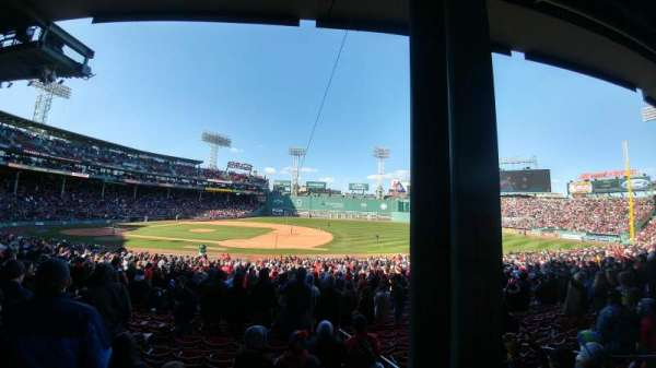 Fenway Park, section: grandstand 14, row: 3, seat: 4