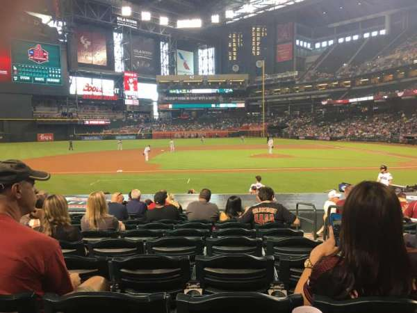Chase Field, section: O, row: 16, seat: 1 and 2