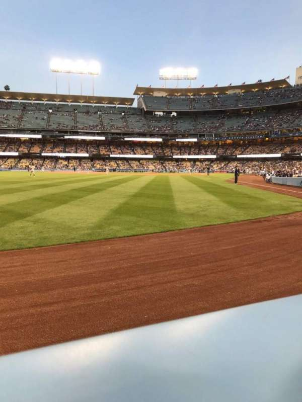 Dodger Stadium, section: 53FD, row: AA, seat: 1