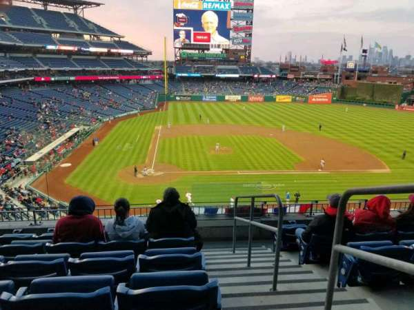 Citizens Bank Park, section: 218, row: 6, seat: 1