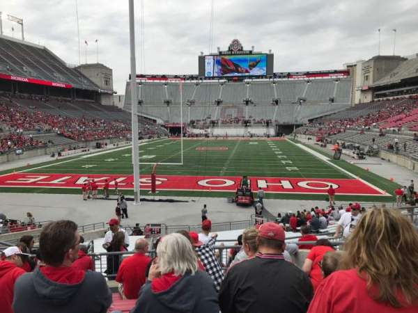 Ohio Stadium, section: 3a, row: 8, seat: 10