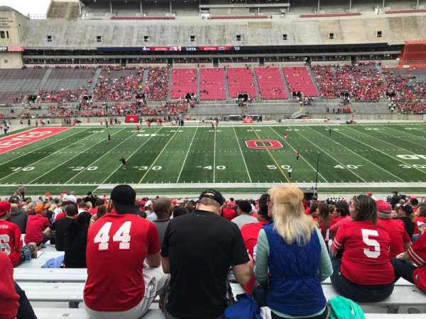 Ohio Stadium, section: 22a, row: 25, seat: 20