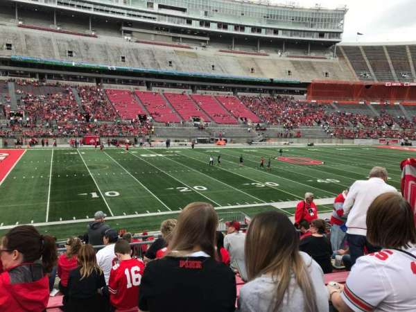 Ohio Stadium, section: 26a, row: 8, seat: 10