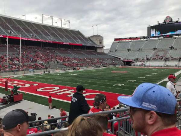 Ohio Stadium, section: 9a, row: 3, seat: 8