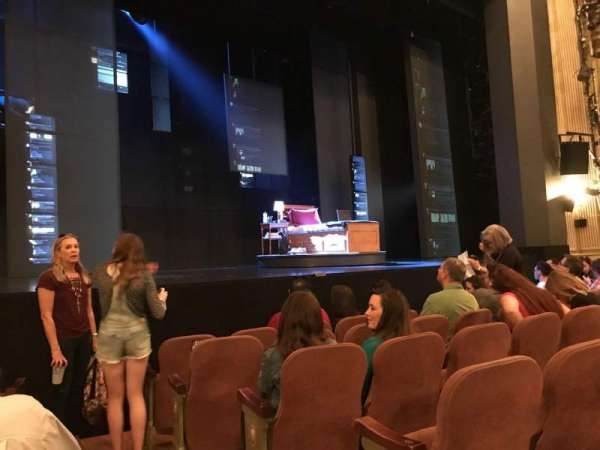 Music Box Theatre, section: Orchestra L, row: F, seat: 1