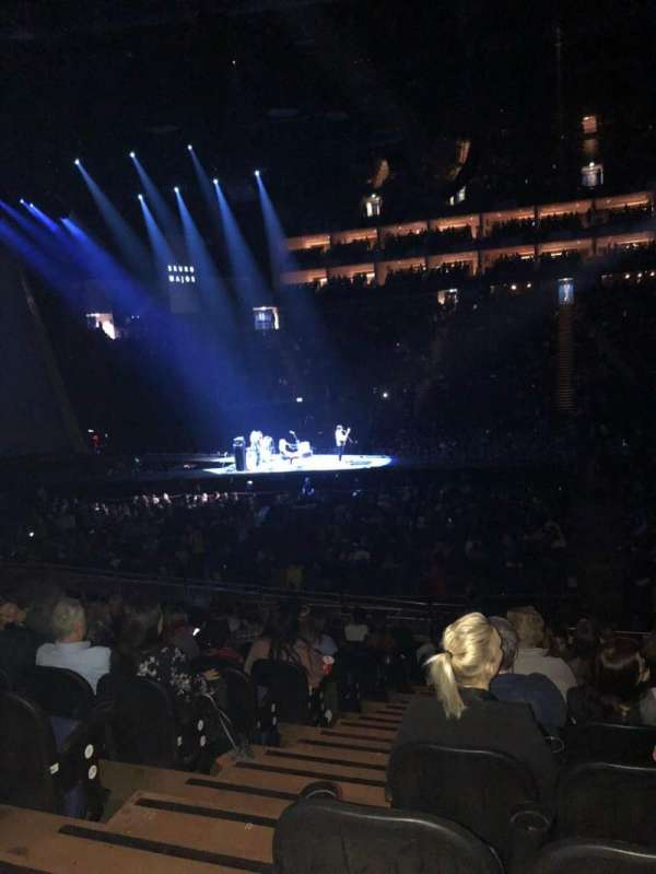 The O2 Arena, section: 102, row: U, seat: 51