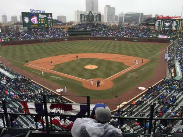 Wrigley Field, section: 316L, row: 4, seat: 1