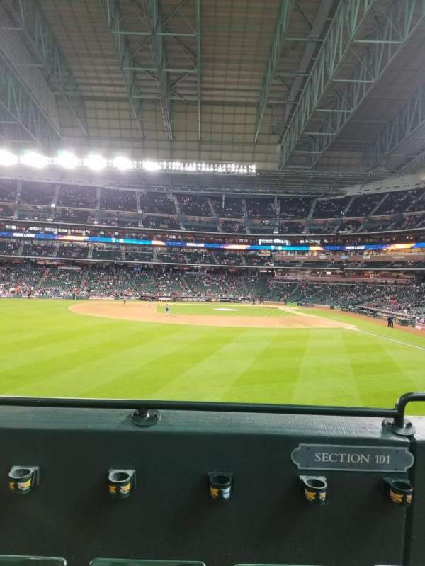 Minute Maid Park, section: Crawford Boxes, row: 101, seat: 15
