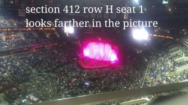 Capital One Arena, section: 412, row: H, seat: 1