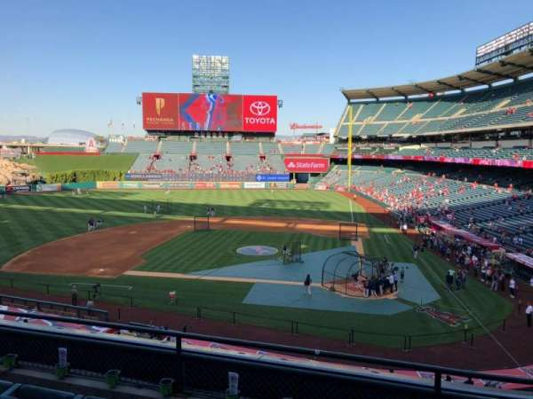 Angel Stadium, section: C321, row: D, seat: 8