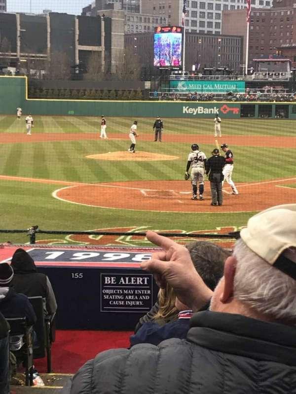 Progressive Field, section: 154, row: R, seat: 10