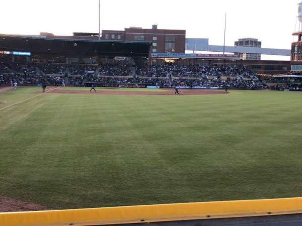 Durham Bulls Athletic Park, section: 124, row: A, seat: 3