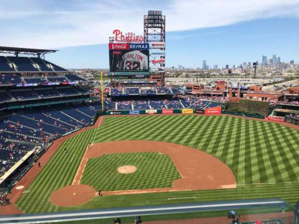 Citizens Bank Park, section: 416, row: 1, seat: 14