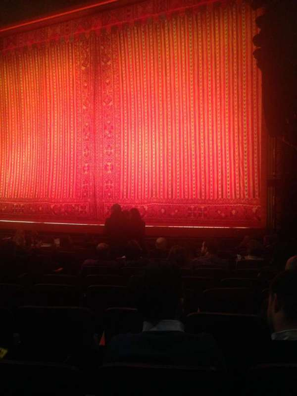 New Amsterdam Theatre, section: Orchestra R, row: L, seat: 12