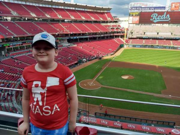 Great American Ball Park, section: 429, row: A, seat: 4