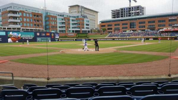 Durham Bulls Athletic Park, section: 100, row: F, seat: 5