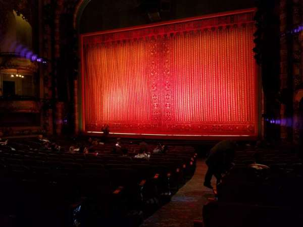 New Amsterdam Theatre, section: Orchestra L, row: R, seat: 2