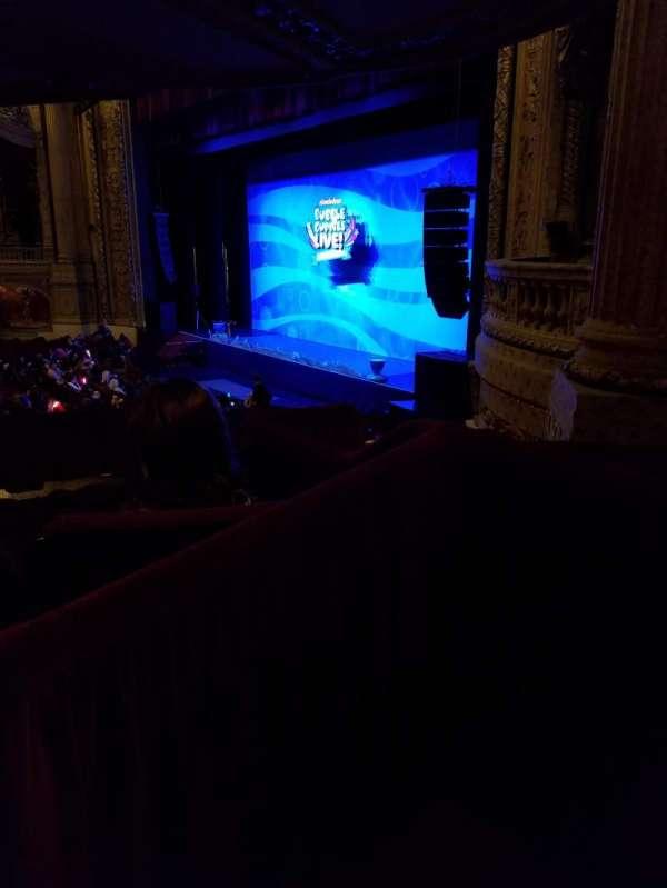 Chicago Theatre, section: Mezzanine Box B, row: 3, seat: 5