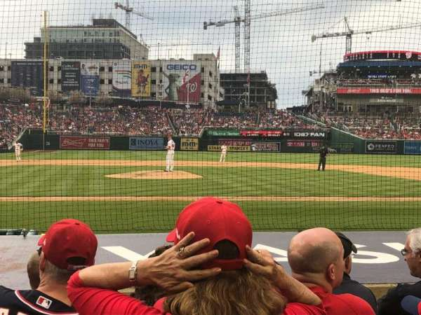 Nationals Park, section: 128, row: H, seat: 13