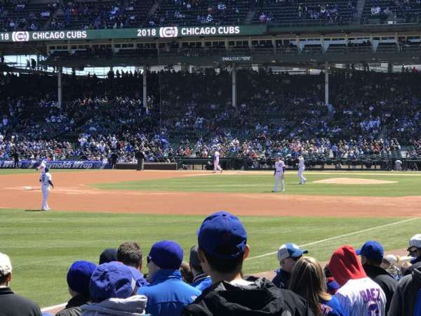 Wrigley Field, section: 104, row: 2, seat: 8