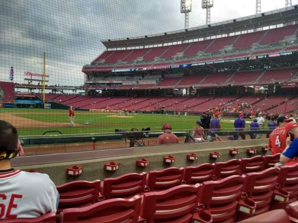 Great American Ball Park, section: 115, row: I, seat: 11