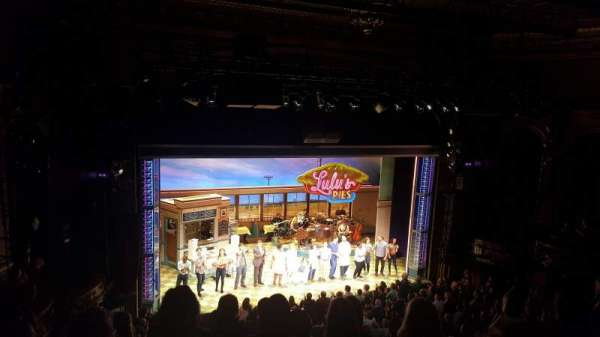 Brooks Atkinson Theatre, section: Rear Mezzanine LC, row: F, seat: 127