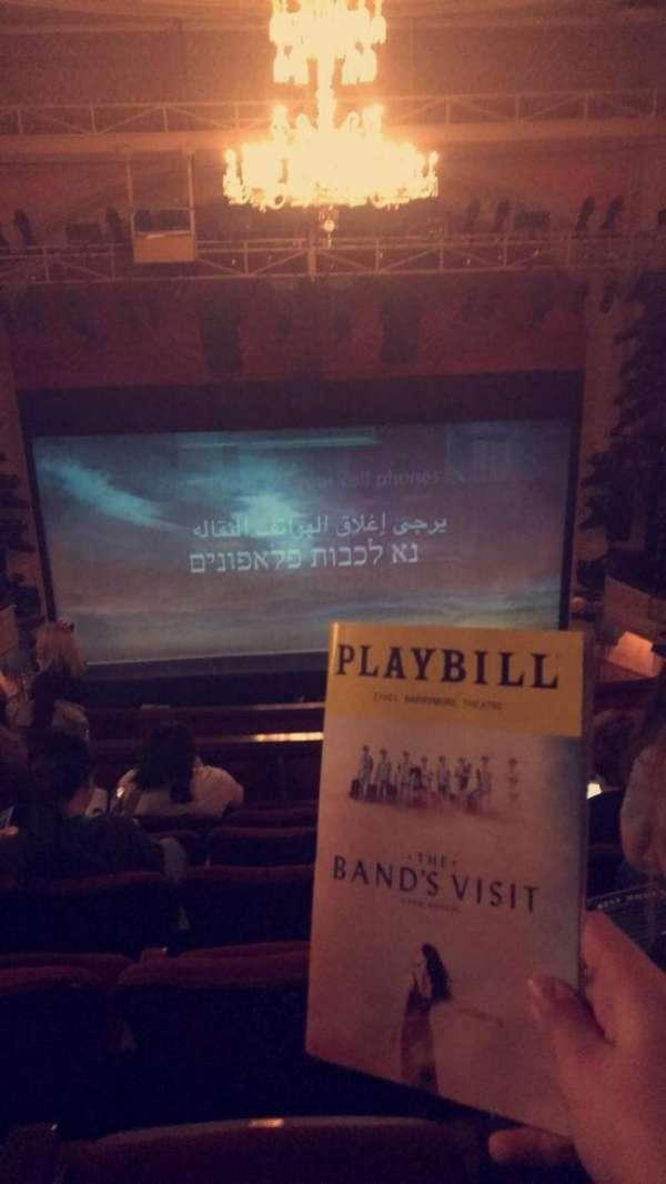 Ethel Barrymore Theatre, section: Rear Mezzanine C, row: F, seat: 106