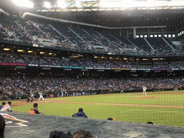 Chase Field, section: D, row: 7, seat: 1 and 2