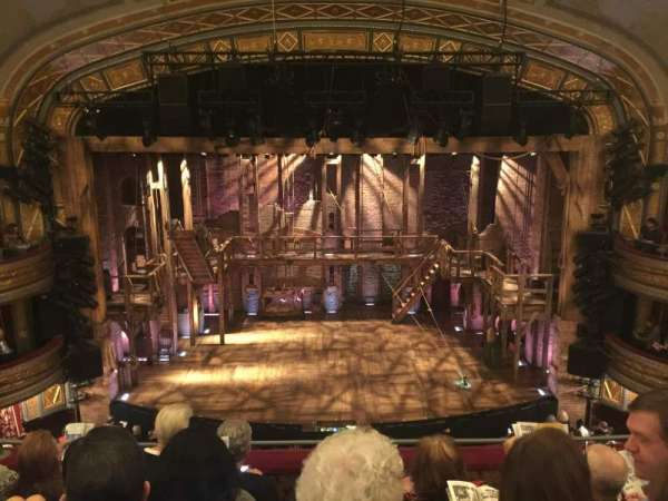 Richard Rodgers Theatre, section: Front Mezzanine Center, row: E, seat: 108
