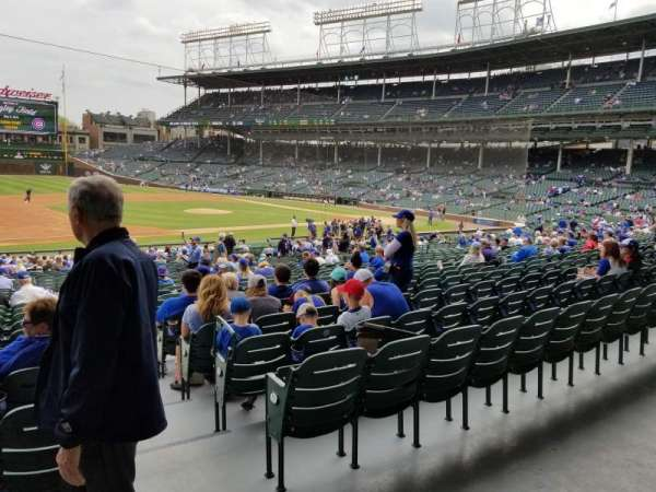 Wrigley Field, section: 209, row: 1, seat: 21