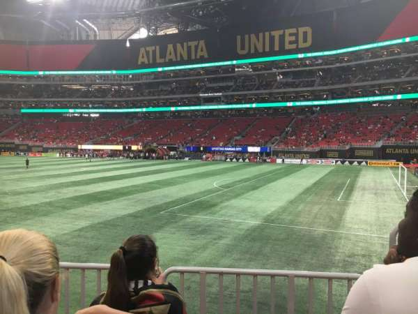 Mercedes-Benz Stadium, section: 106, row: 11, seat: 2