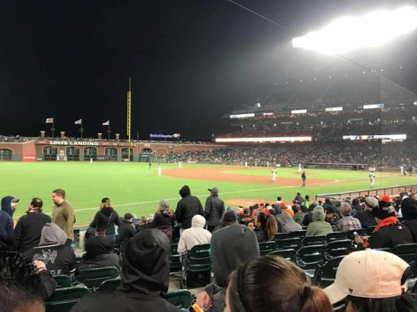 Oracle Park, section: 129, row: 16, seat: 3