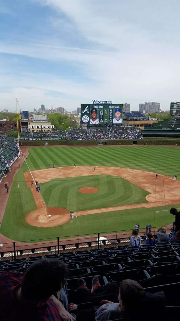 Wrigley Field, section: 321R, row: 10, seat: 5