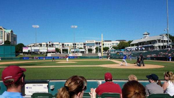 Dr Pepper Ballpark, section: 110, row: 4