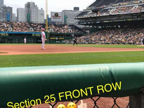 PNC Park, section: 25, row: 1, seat: 10