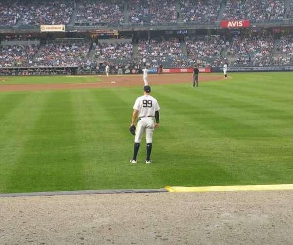 Yankee Stadium, section: 105, row: 2, seat: 7