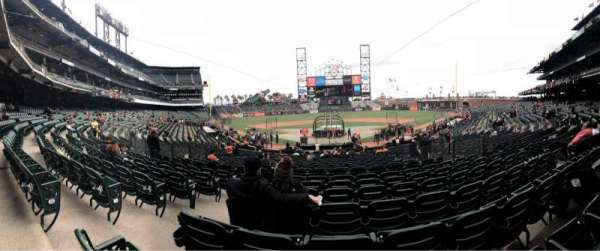 Oracle Park, section: 118, row: 29, seat: 10