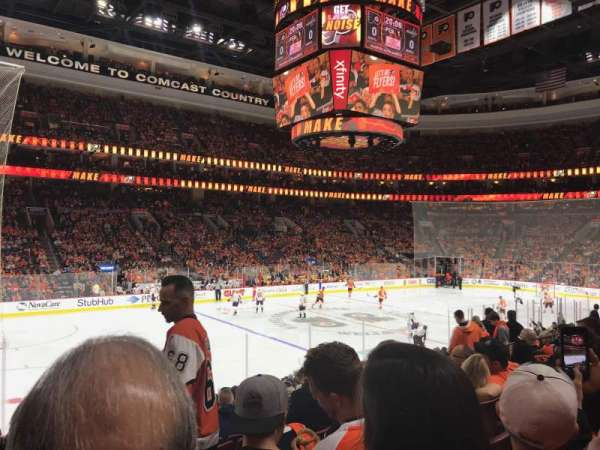 Wells Fargo Center, section: 111, row: 17, seat: 7