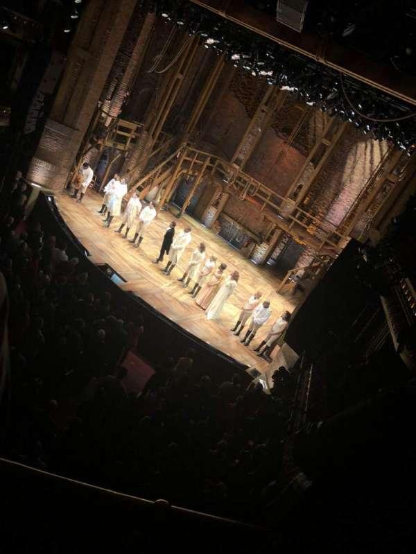CIBC Theatre, section: Mezzanine R, row: B, seat: 4