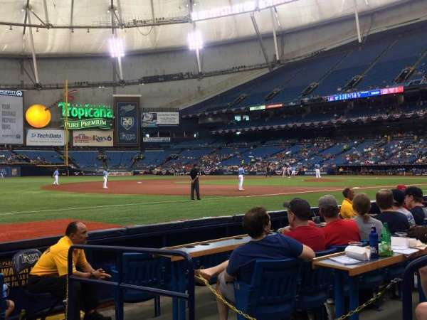 Tropicana Field, section: 127, row: G, seat: 21