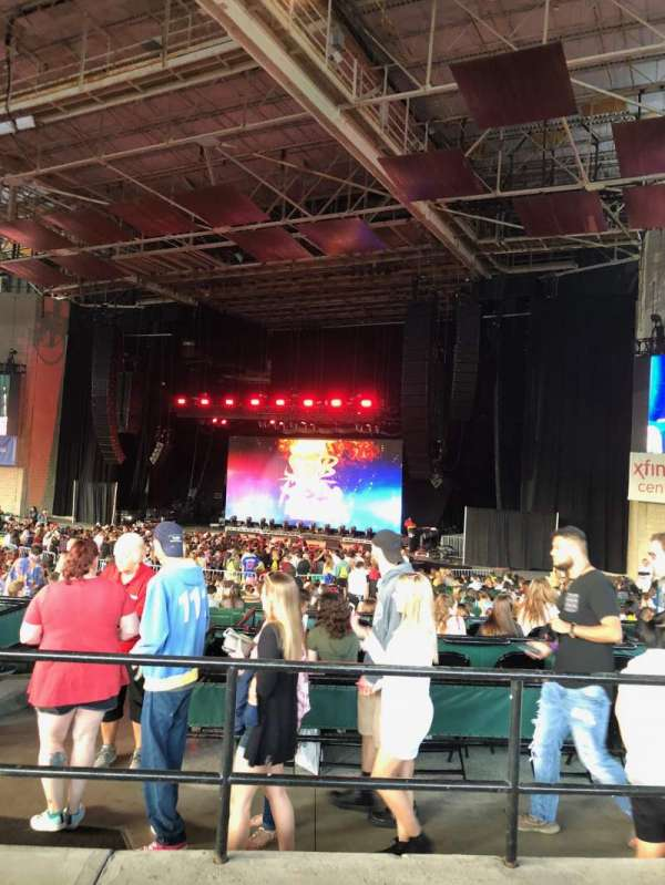 Xfinity Center, section: 5, row: C