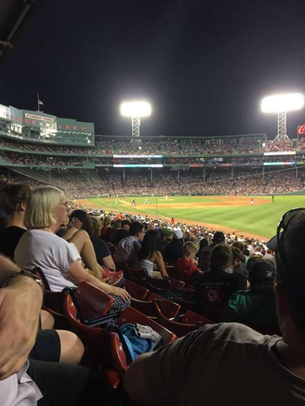 Fenway Park, section: Right Field Box 93, row: Ww, seat: 7