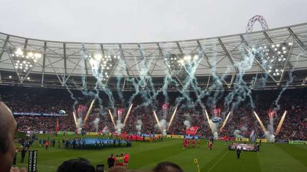 London Stadium, section: 111, row: 14, seat: 225