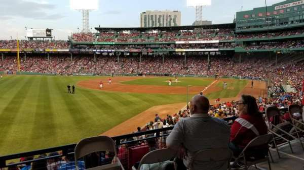 Fenway Park, section: Grandstand 32, row: 2, seat: 15
