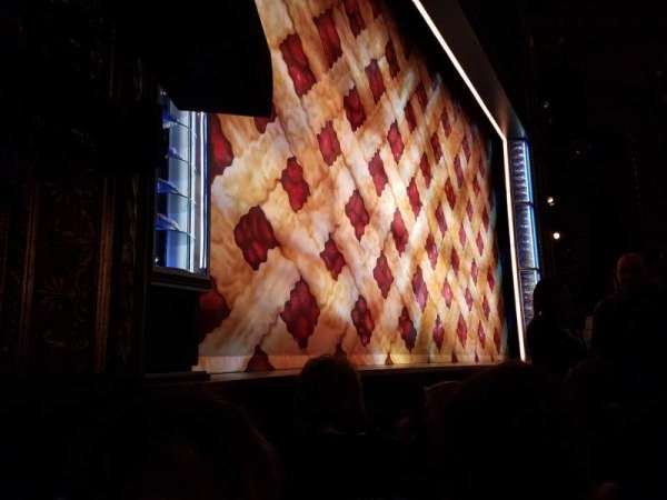 Brooks Atkinson Theatre, section: Orchestra L, row: B, seat: 13