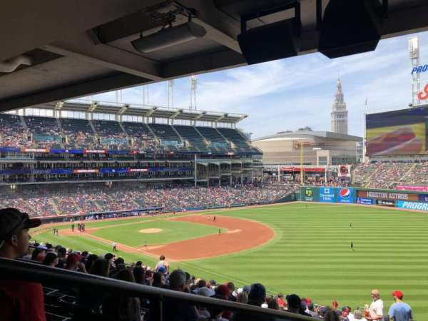 Progressive Field, section: 326, row: S, seat: 12