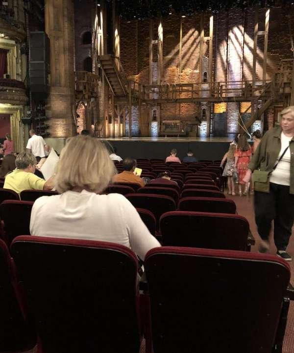 CIBC Theatre, section: Orchestra Center, row: S, seat: 112-114