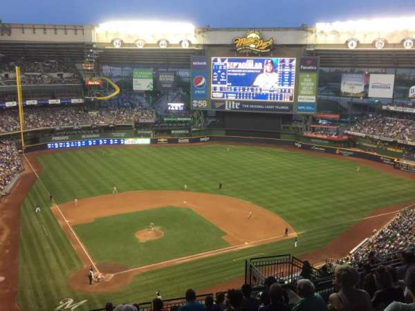Miller Park, section: 419, row: 19, seat: 9