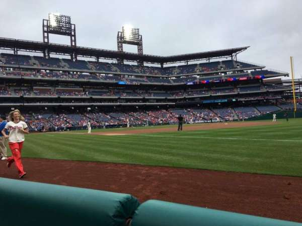 Citizens Bank Park, section: 111, row: 1, seat: 9