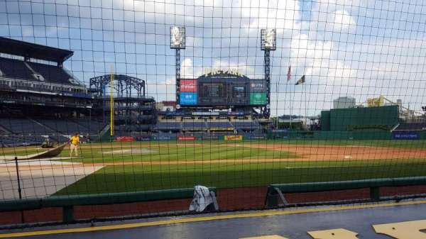 PNC Park, section: 11, row: F, seat: 12